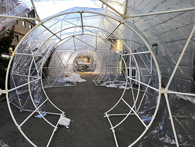 Dome Tent Tunnel